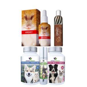 Állatgyógyászati szerek bőrgyulladások kiegészítő kezelésére