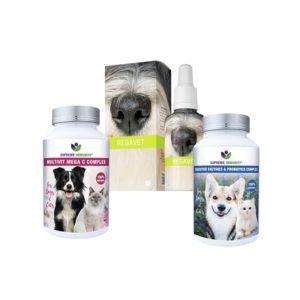 Állatgyógyászati szerek emésztőszervi megbetegedések kiegészítő kezelésére