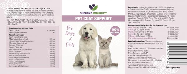 pet coat support